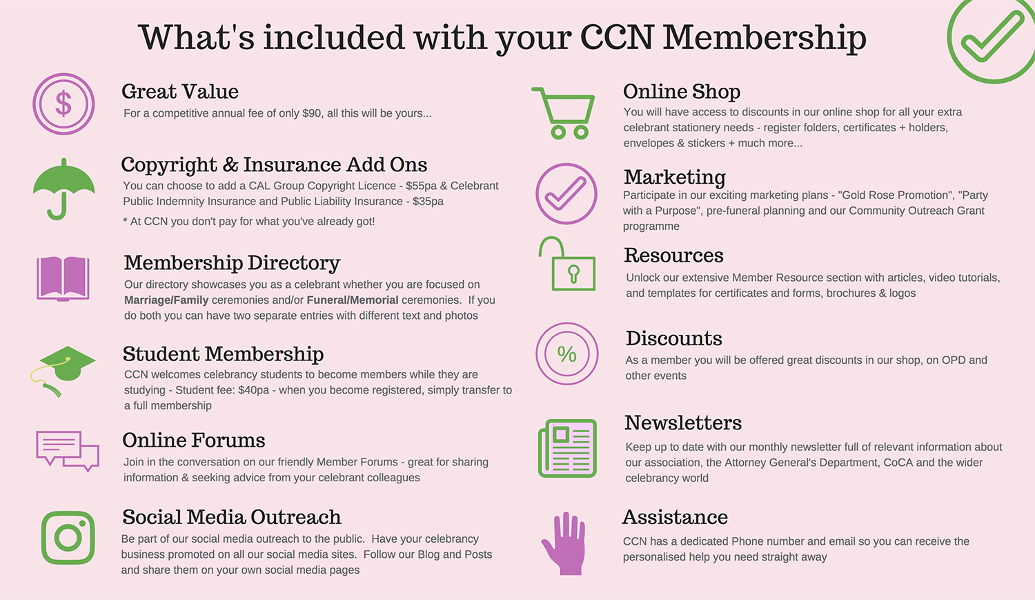 CCN Membership Benefits 1500