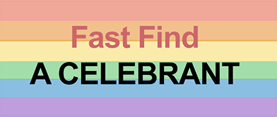 Fast find a celebrant rainbow 400