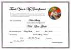 Godparent Certificate personalised with Child's Photo