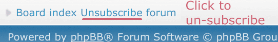 unsubscribe forums