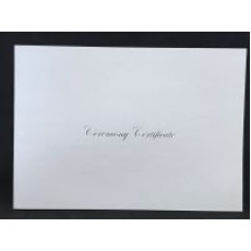 A4 White & Shiny Silver Ceremony envelope - No Rings - 8 pack