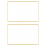 A5 white gold plain border certificate: BLANK - Pair