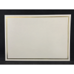 A4 cream gold plain bordered certificate - BLANK