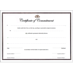 A4 white gold  certificate - commitment