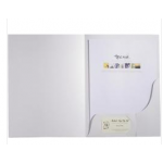 A4 Business Folder white slot for card x 5