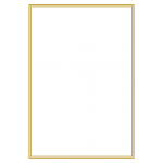 A4 white gold plain bordered certificate - BLANK