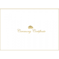 A4 White & Shiny Gold Ceremony envelope - With Rings - 8 pack