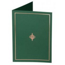 Holder A4 Green and gold stamped paper