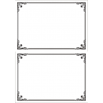 A5 white silver elegant certificate: blank PAIR