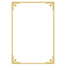 A4 white gold elegant bordered certificate - BLANK