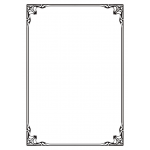 A4 white silver elegant bordered certificate