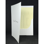 A4 One Pocket  Folder white YOUR CEREMONY Silver X 5