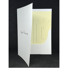A4 Two Pocket Folder white YOUR CEREMONY Gold x 1