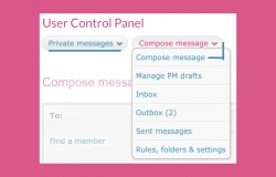 Private messages section