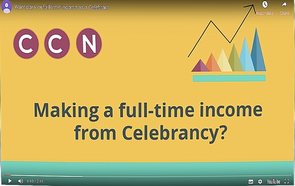 Want part- or full-time income as a Celebrant?