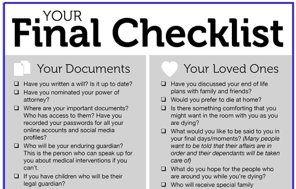 Your final checklist