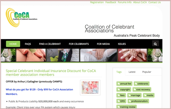 Why join a celebrant association?